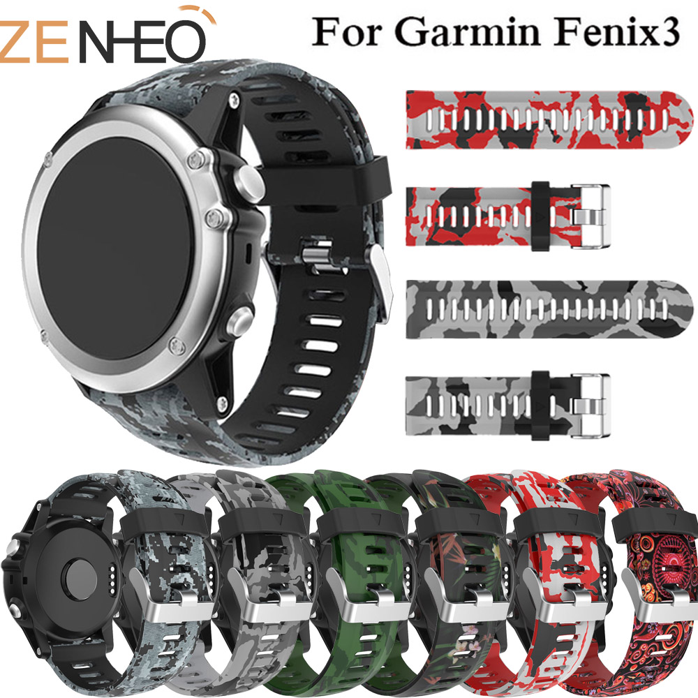 Replacement Band Sport Silicone Watch Band For Garmin Fenix 3HR/Fenix 5X/Fenix 3 Watchband 26mm Watch Strap For Garmin Fenix 3