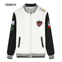 Tsingyi LCK SKT T1 Team Fleece Embroidery Bomber Pilot Jacket Men Women Faker Peanut Bang Wolf Blouson Homme Baseball Coats