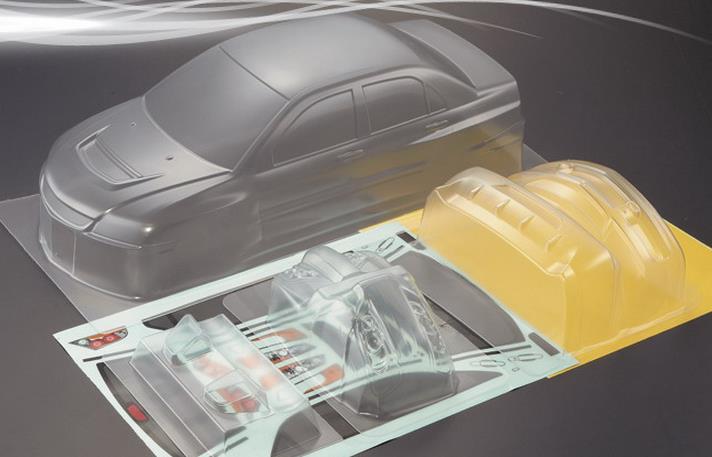 Mitsubishi Lancer Evolution X >> 1/10 RC Car Body Clear Shell mMitsubishi EVO Lancer ...