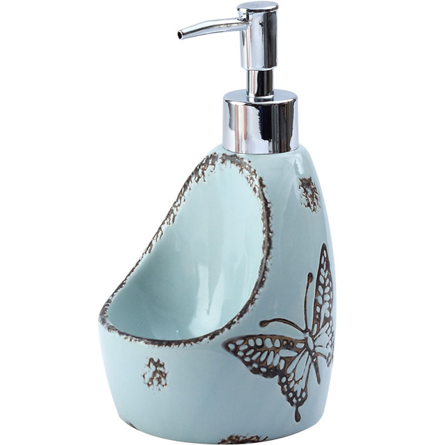 Shampoo 2 in 1 Bathroom Pump Travel Sanitizer Detergent Home Ceramics Liquid Soap Dispenser Bottle Portable Soap Dispenser LY65