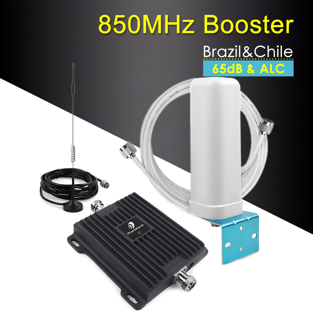 65dB Band 5 850MHz CDMA Repeater 2G 3G Mobile Phone Signal Booster Cell Phone Amplifier Cellular Booster 3g GSM 850mhz Repeater
