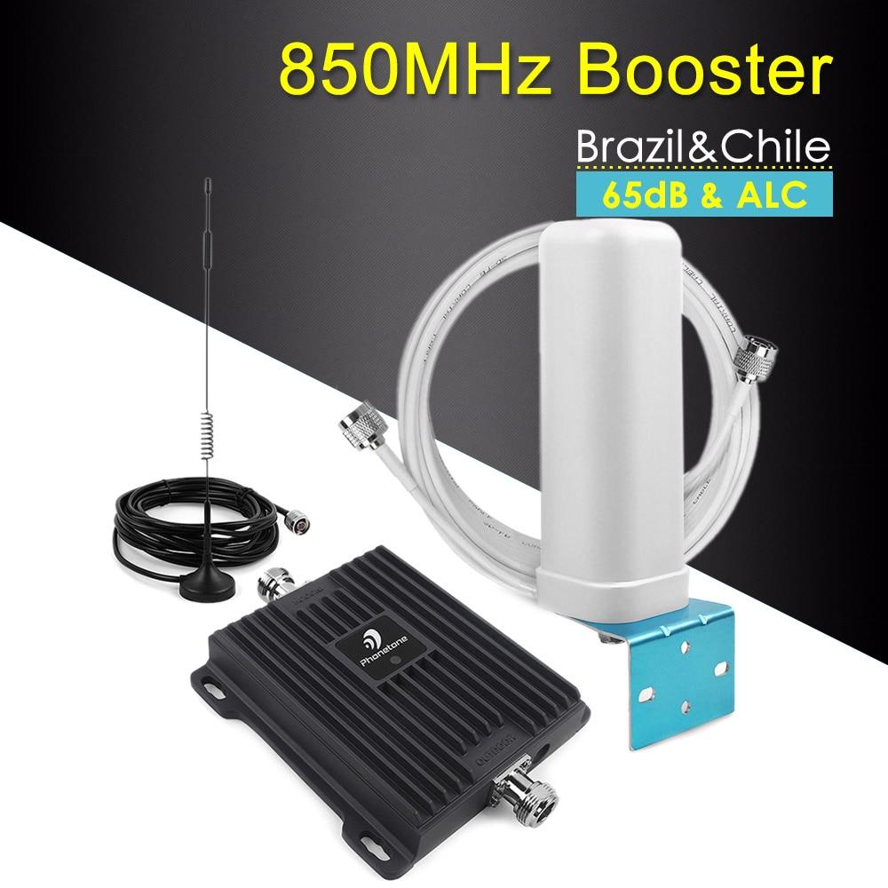 Bande 65dB 5 850 MHz répéteur CDMA 2G 3G amplificateur de Signal de téléphone portable amplificateur de téléphone cellulaire répéteur cellulaire 3g GSM 850 mhz