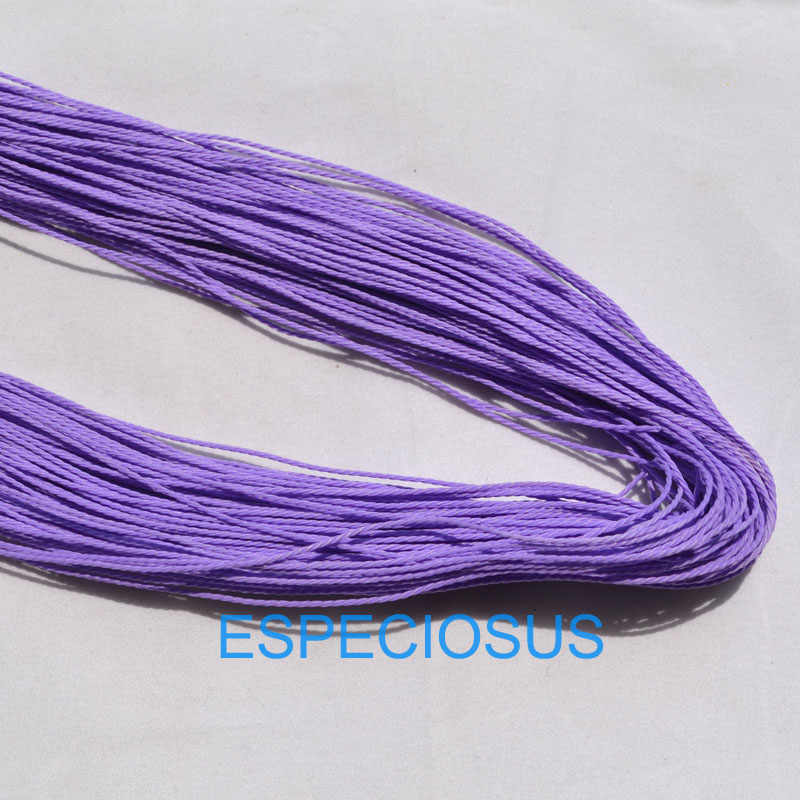 20 colors 10 meter Waxed Cotton String Beading Cord Rope 1mm For Bracelet And Necklace Making Weaving Departments