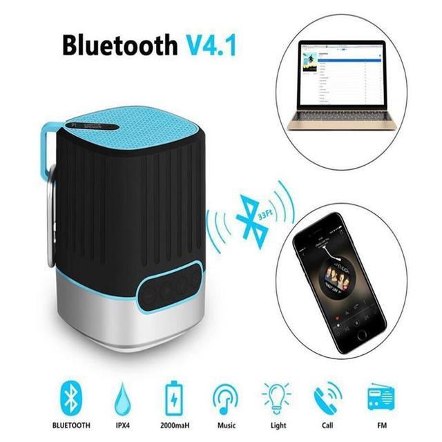 Étanche Htc Bluetooth Led Fil Parleur Promotionnel Pour Haut Xiaomi Lampe P1 Sans Torche Extérieur Sd Tfcard Avec Micro Huawei Radiofréquence SMUVzp
