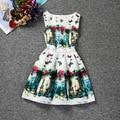New Summer Vetement Fille Butterfly Pattern Infant Baptism Print Dresses For Kids Child Birthday Gift Princess Dresses