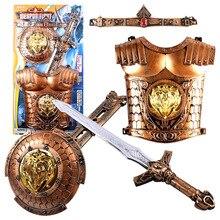 Bronze Weapon Set Simulation Bow Arrow Sword Shield Armor Combination Children's