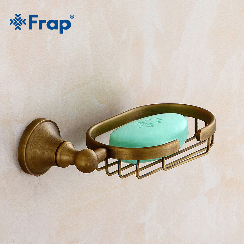 все цены на Frap Wall Mounted Soap Holder Basket Tray Storage Brass Bathroom Fitting Hardware Antique Soap Dish Bathroom Accessories Y18015