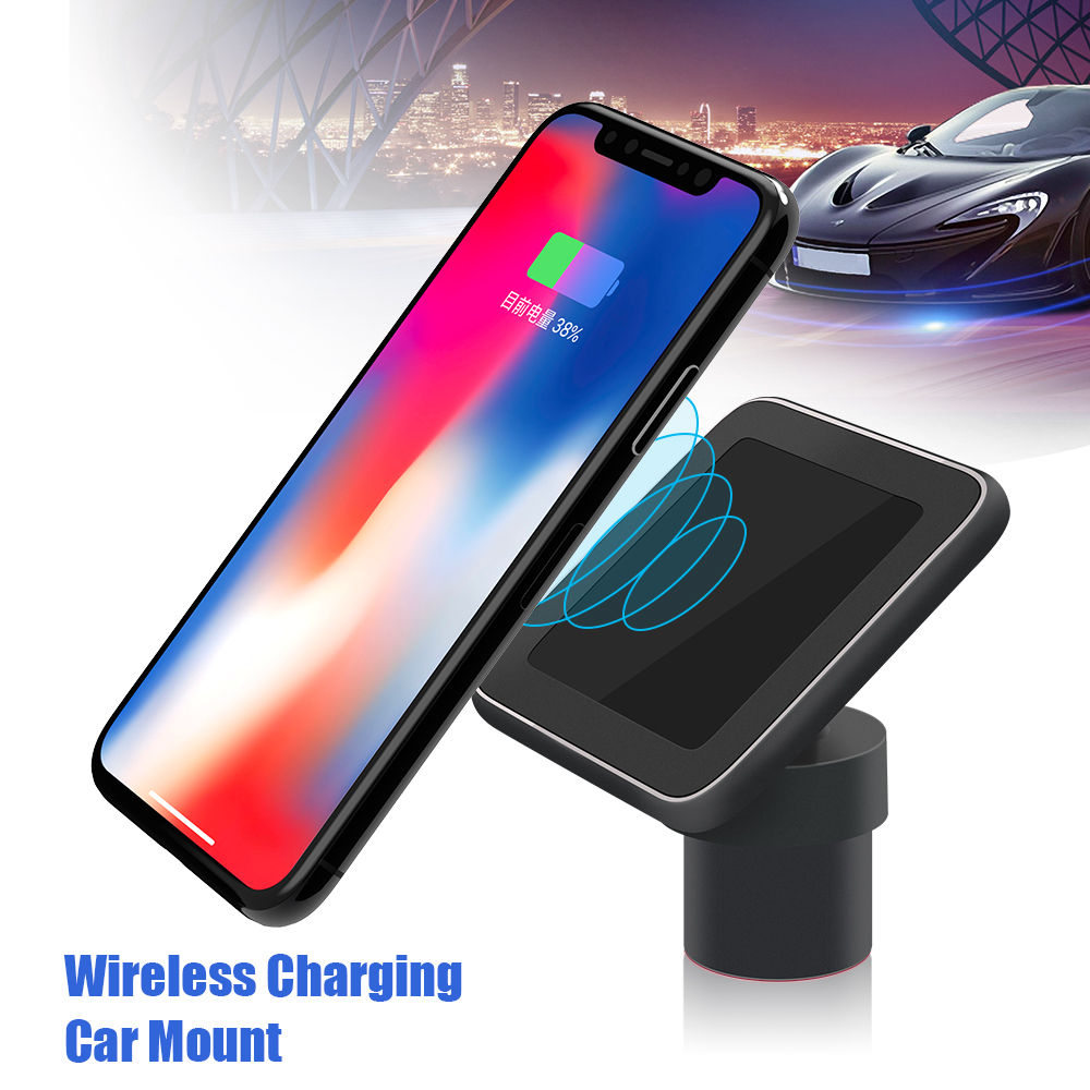 Magnetic Car Mount Wireless Charger Fast Qi Charger for Samsung S8 S9 Plus Note 9 with Stand Air Vent Car Phone Holder Charger