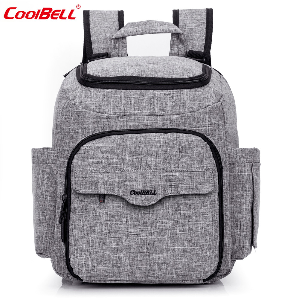 CoolBell Mommy Bag Baby Stroller Bag Waterproof Nylon Mochila Diaper Bag Backpack Travel Backpack With Changing Pad