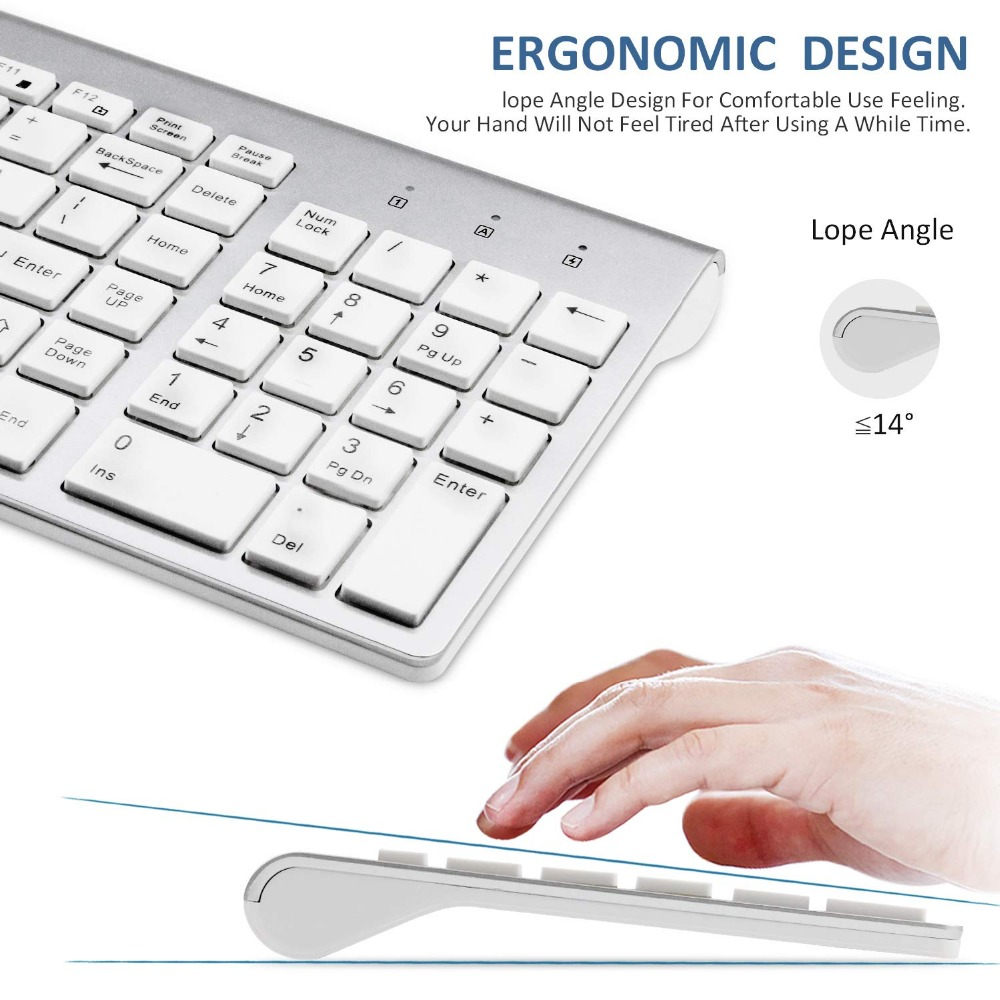 Image 3 - Ultra Thin Business Wireless Keyboard and Mouse Combo 102 Keys Low Noise Wireless Keyboard Mouse for Mac Pc Win XP/7/10 Tv Box-in Keyboard Mouse Combos from Computer & Office
