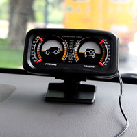 Hypersonic Car Auto Compass Balance Meter Slope Indicator Land Meter with LED Light For Off-Road Vehicle SUV