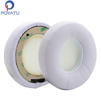 POYATU Earpads Pair White For Solo 2 Wireless Replacement Earpads Headphones For Beats Solo3 Wireless Headphone Earpads 1 Pair
