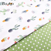 Cactus Printed Cotton Fabric Kids Sheet Patchwork Cloth DIY Sewing Quilting Fat Quarters Material For Baby&Child