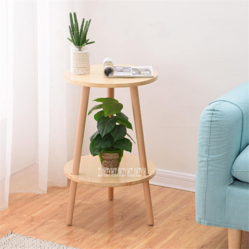 Simple Modern End Table Living Room Furniture Solid Wooden Tea Table Bedroom Portable Round Coffee Table Balcony Side TableSimple Modern End Table Living Room Furniture Solid Wooden Tea Table Bedroom Portable Round Coffee Table Balcony Side Table
