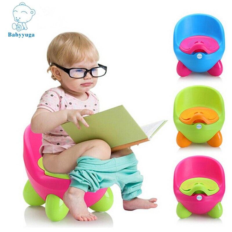 ФОТО Babyyuga Baby Potty Training Toilet Plastic Non slip Kids Seat Protable Travel Chair Infant Children Pee Trainer