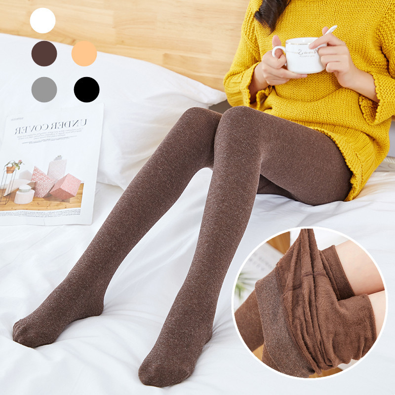 Tights For Girls Autumn Tights Solid Color Kids Girl Warm Trousers Fashion Knitted Cotton Long Stockings Pantyhose Winter 6-11Y