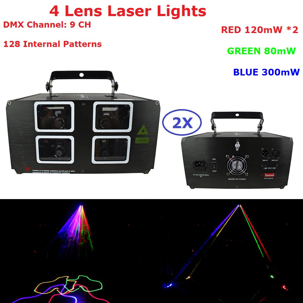 High Quality 4 Eyes Laser Lights 620mW RGB Full Color DMX Laser Projector Professional Disco DJ Stage Party Lighting EquipmentsHigh Quality 4 Eyes Laser Lights 620mW RGB Full Color DMX Laser Projector Professional Disco DJ Stage Party Lighting Equipments