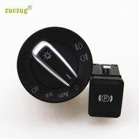 ZUCZUG Far Sis Işık Anahtarı + EPB Elektronik Park Freni Düğmesi VW Passat B6 3C CC Için fren Anahtarı 5ND 941 431 B