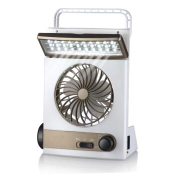 22%,Multi function solar rechargeable fan / flashlight / desk lamp / charging fan mini portable student fan Non toxic ABS