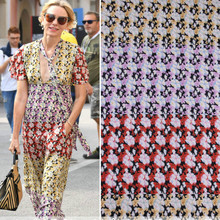 145cm printed fabric diy shirt dress scarf thin clothing polyester material wholesale cloth