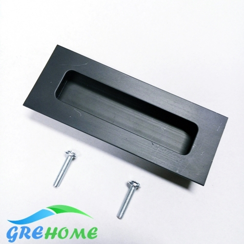 En aluminium en alliage caché chasse tirettes cabinet poignée bouton