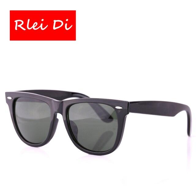 RLEI DI High Quality Square Sunglasses Unisex Sport Outdoor Eyewear 54mm Large frame Glass Lens Men Women Traveling Sun Glasses