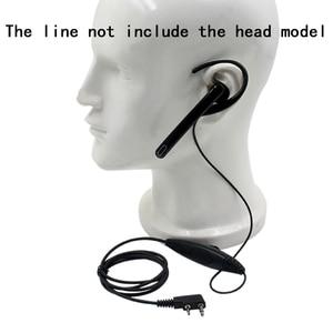 Image 1 - Ear Hang Mic Earpiece Headset PTT for Kenwood TK3107 NX320 Baofeng UV 5R PUXING PX 888 K Plug Walkie Talkie 2 Pin Radio