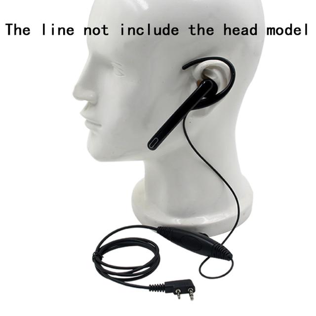 Ear Hang Mic Earpiece Headset PTT for Kenwood TK3107 NX320 Baofeng UV 5R PUXING PX 888 K Plug Walkie Talkie 2 Pin Radio