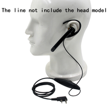 Headset pendurado microfone, fone de ouvido ptt para kenwood tk3107 nx320 baofeng UV 5R puxing PX 888 k plug walkie talkie 2 rádio de pino