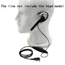 Ucha powiesić mikrofonem słuchawka zestaw słuchawkowy PTT do obsługi Kenwood TK3107 NX320 Baofeng UV 5R PUXING PX 888 K wtyczka Walkie Talkie 2 Pin Radio