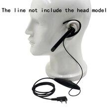 귀에 걸려 마이크 이어폰 헤드셋 ptt kenwood tk3107 nx320 baofeng UV 5R puxing PX 888 k 플러그 워키 토키 2 핀 라디오