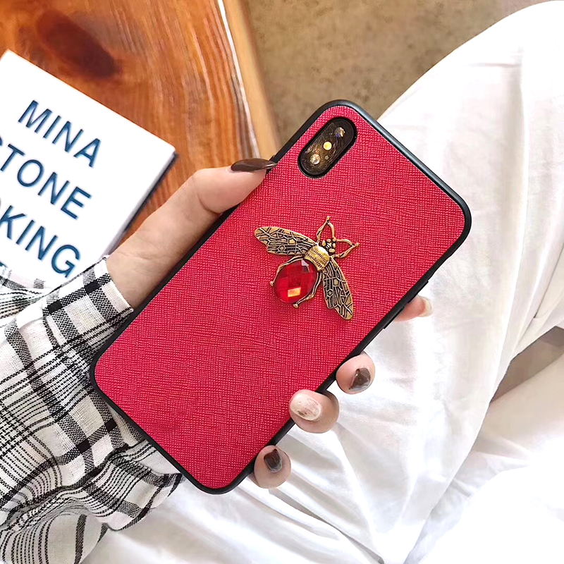 Luxury Fashion brand Diamond Bee Glitter soft case for iphone 6 S 7 8 plus X XR XS Max Cute Hard Cover for iphone 7 8 6S 5 5S SE (2)