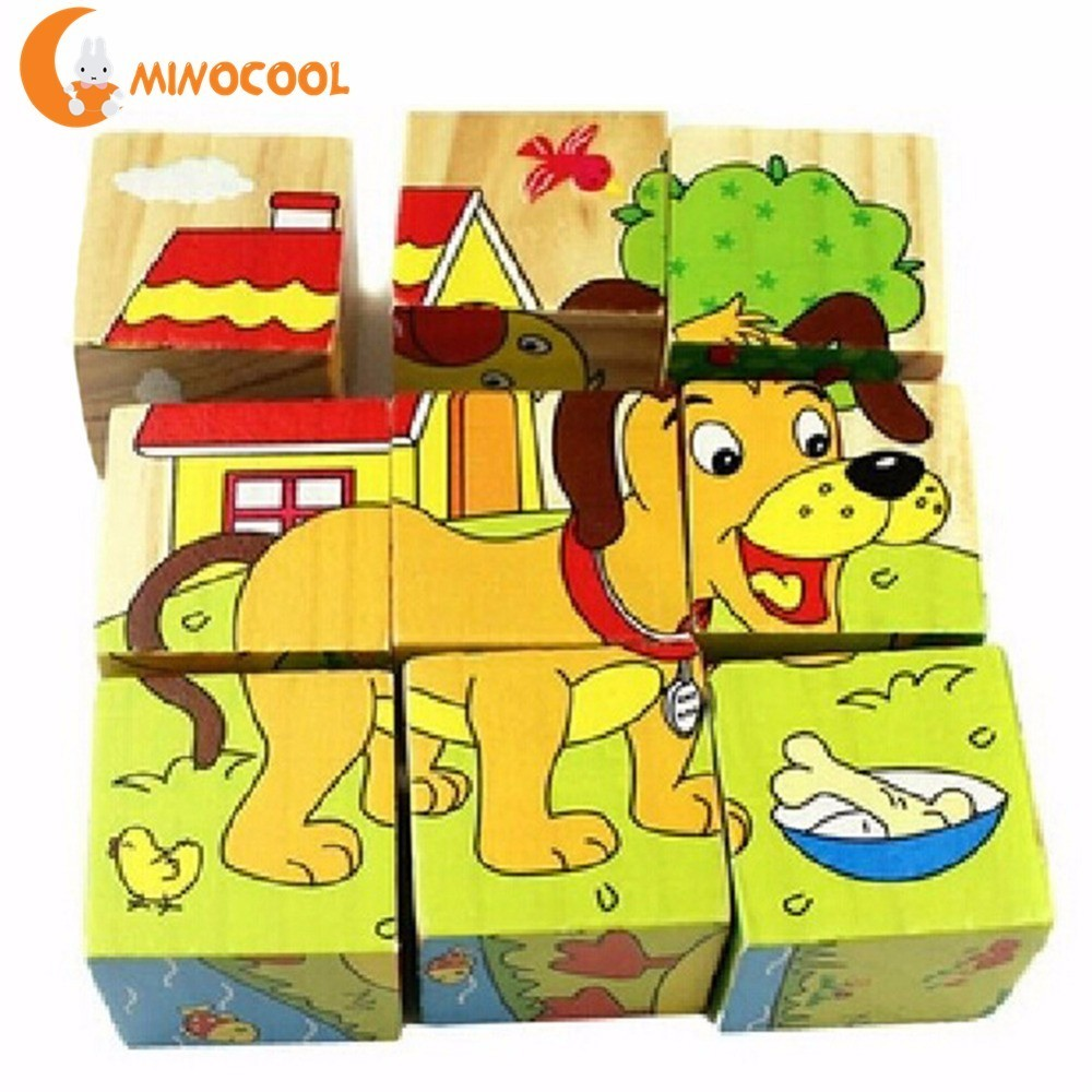 Baby Kids Cartoon Animal Pattern Toys 3D Building Blocks Children's Education Teaching Aids Educational Toys for Boy & Girls diy solar electronic building blocks circuit teaching aids kids educational creative physics development toys intelligence gift