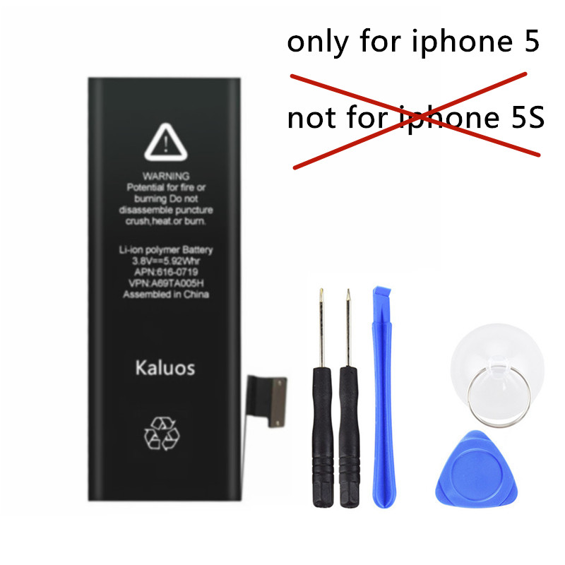 Kaluos 1440mAh Battery For Apple iphone 5 A1428 A1429 with Disassemble toolsKaluos 1440mAh Battery For Apple iphone 5 A1428 A1429 with Disassemble tools