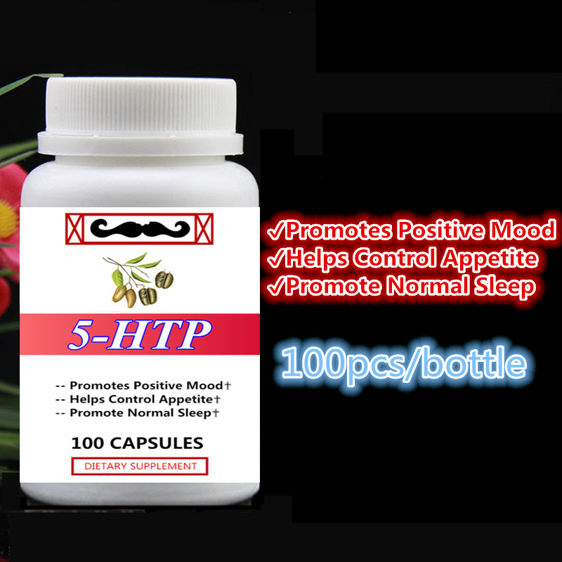 5-HTP,Promotes Positive Mood,Helps Control Appetite and Promote Normal Sleep Reduce Stress,5htp,100pcs/bottle