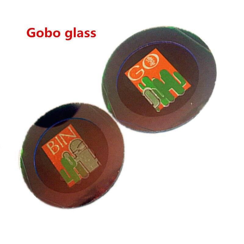 Gobo en verre haute définition pour projecteur de grande qualité professionnel haute définition véritable couleurs Gobo en verre personnalisé