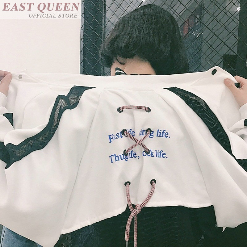 Women   jacket   for outerwear letter printing high quality batwing sleeve zippers casual   basic     jackets   o-neck hip hop tops DD572 L