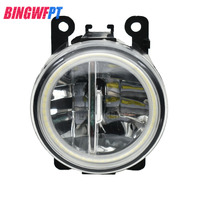 2x Car styling 12V Fog Lamps LED Lights with Angel eye H11 For OPEL ASTRA H GTC 2005 2015 For Opel Corsa D Hatchback 2007 2015