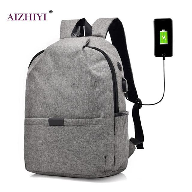 Chargeable Outside Casual Backpacks for Teenage Canvas Travel Backpack  Student Shoulder Bag Large Capacity Schoolbag Mochilas 697faedad62f9