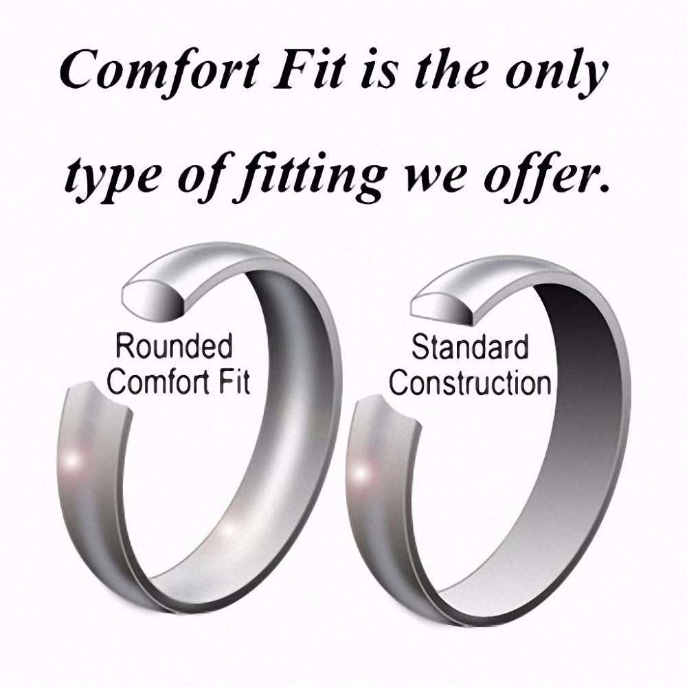 Queenwish 8mm white tungsten carbide ring silver color celtic queenwish 8mm white tungsten carbide ring silver color celtic dragon with blue background promise rings for couples in rings from jewelry accessories on nvjuhfo Gallery