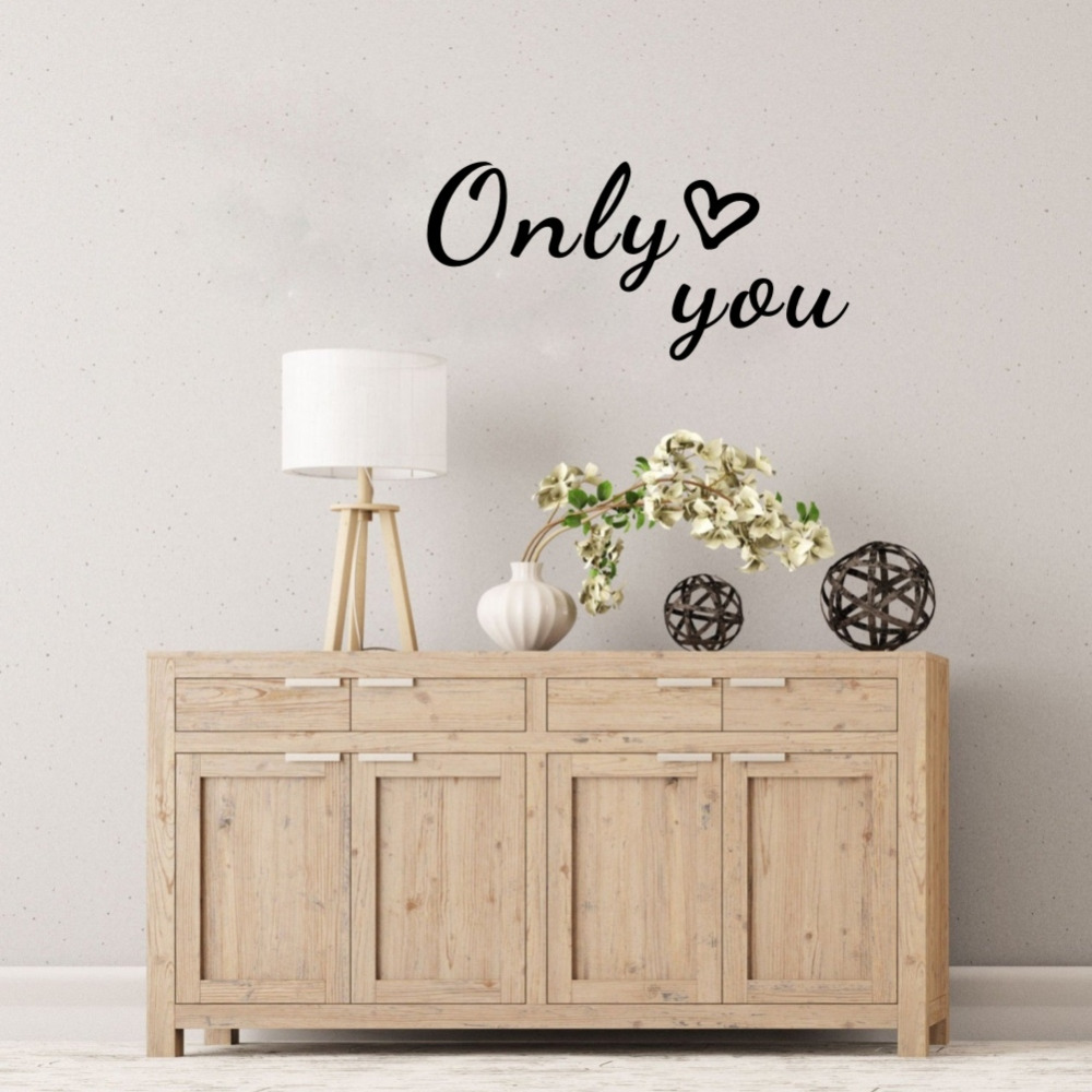 Romantic Bedroom Wall Decor: Only You Romantic Vinyl Lettering Stickers Love Quotes Art