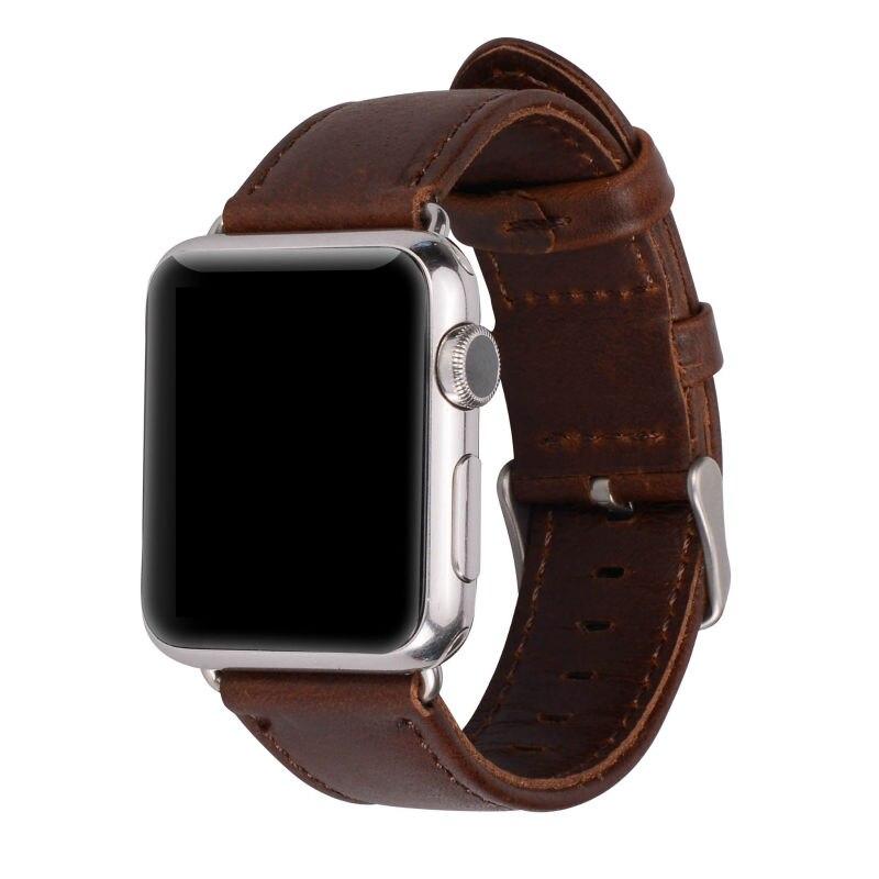 Serija 2/1 100% pravega usnja trak za ročno uro za Apple Watch Band - Dodatki za ure - Fotografija 6