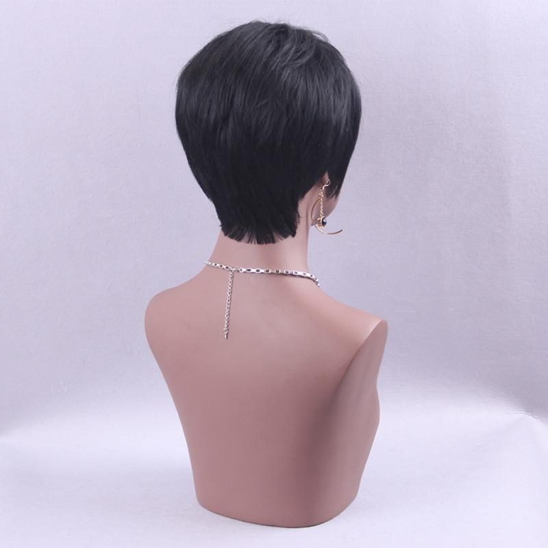 Element Pixie Cut Black Paryk Blandning Natural Hair Short Hair - Syntetiskt hår - Foto 5