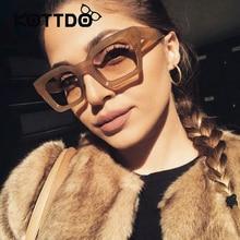 New Small Square Sunglasses Women Luxury Brand Designer Frame Transparent Gradient Sun Glasses Oculos De Sol Feminino UV400
