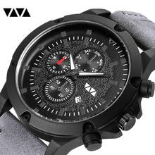 Sports Mens Big Watches Fashion Top Brand Leather Quartz Clock Waterproof Watch Casual Retro Male Wristwatches Relogio Masculino стоимость