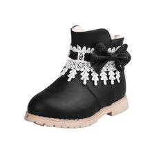 Children Warm Boys Girls Snowflake Martin Sneaker Boots Kids Baby Casual Shoes D50