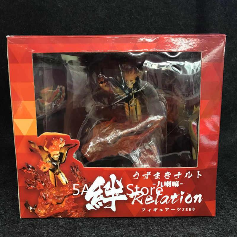 Anime Naruto Shippuden Ootutuki Hagoromo Uzumaki Naruto e Kurama Kyuubi PVC Action Figure Da Collezione Model Toy