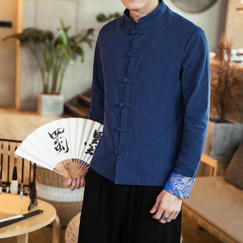 春 2019 、繁体字中国語メンズ唐スーツはペアオリエンタルシャツ、と一緒に韓服トップスと qipaos