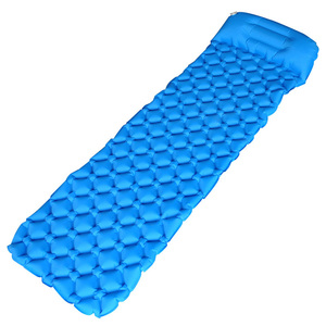 Image 3 - Inflatable Sleeping Pad Camping Mat With Pillow air mattress Cushion Sleeping Bag air sofas inflatable sofaFor Autumn