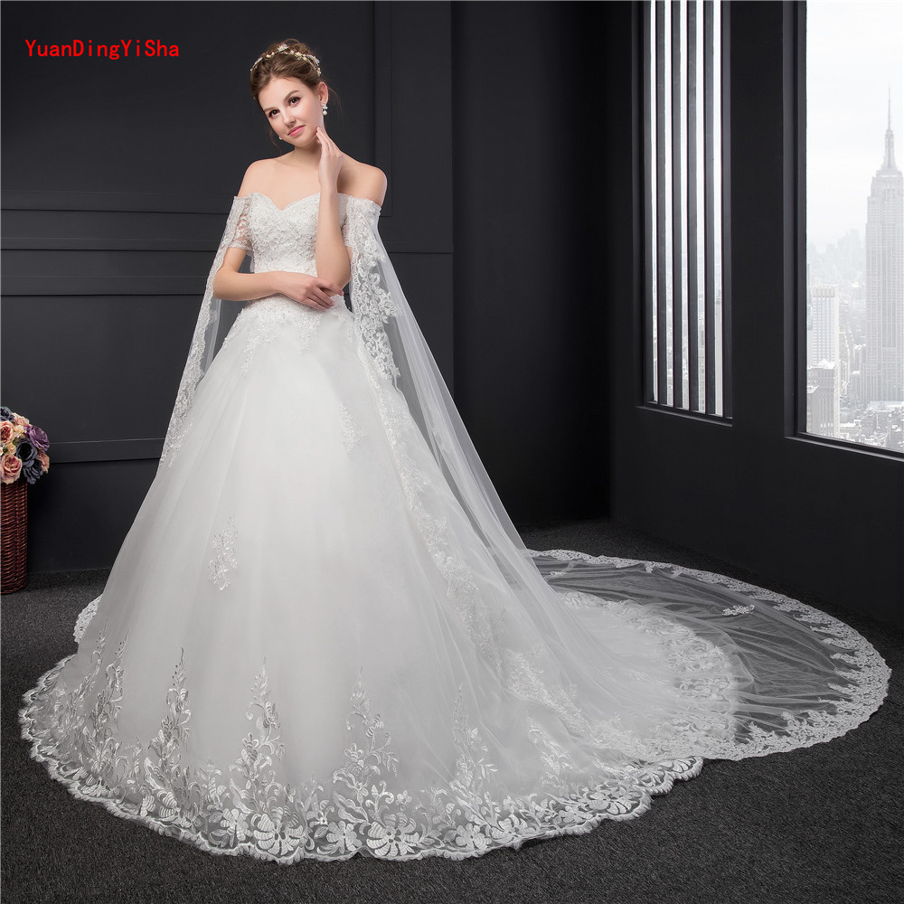 huge wedding dresses big lace wedding gowns sleeve customized 5033
